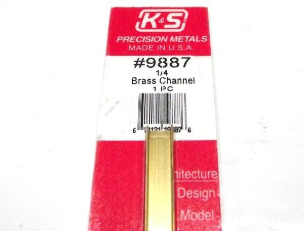 K&S METAL #9887 BRASS CHANNEL 1/4X300MM 1PCS