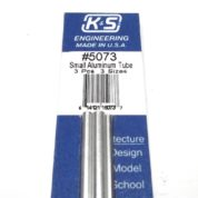 K&S METAL #5073 ALUMINIUM TUBE 3/32-1/8-5/32 X12'