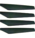 REPLACEMENT ROTOR BLADES A - TOP  2PC HOLA / BOTY  HELI SPARE PARTS