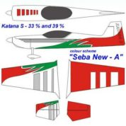 KRILL KATANA 39% SEBA-A Red/White/Green Clear Canopy