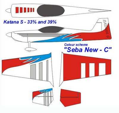 KRILL KATANA 39% SEBA-C Red/Blue/White Clear Canopy