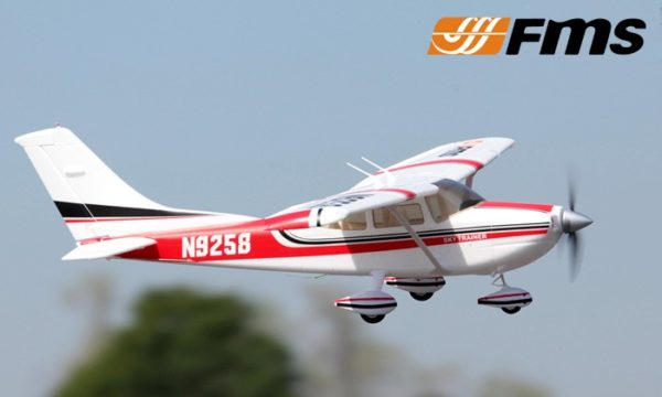 FMS CESSNA 182 1.4M PNP RED