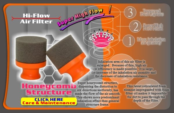 GQ PRODUCTS HI FLOW AIR FILTER SUIT BUGGY AFO1