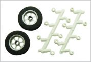 TY1 WHEEL ALLOY DELUXE 2.5' PAIR + SPACERS TY6130