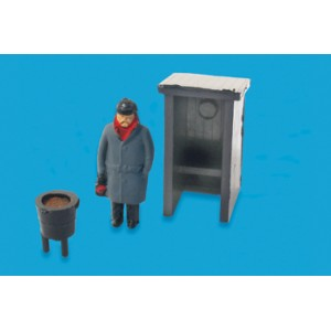 MODEL SCENE 5034 OO FOG MAN HUT & BRAZIER HO