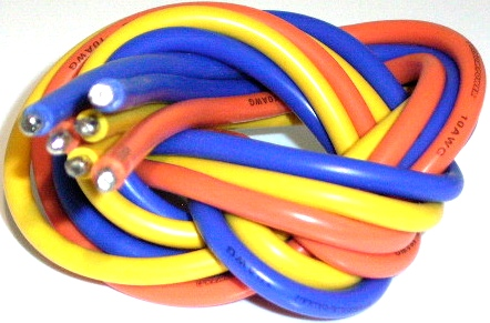 VENOM POWER WIRES 1M BLUE/YELLOW/ORANGE 10AWG VEN-1691