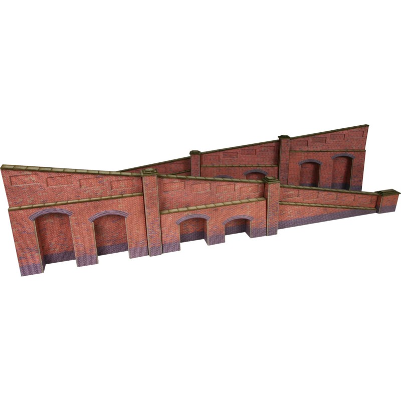METCALFE PO248 TAPERED RETAINING WALL RED BRICK