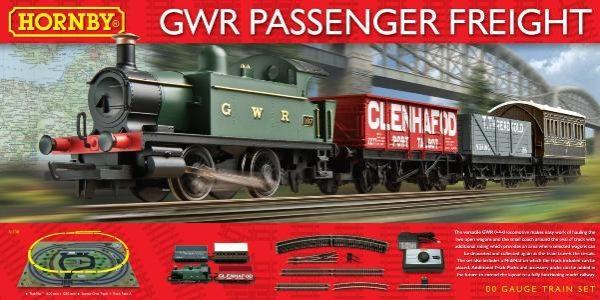 HORNBY GWR PASSENGER FREIGHT TRAIN SET R1138