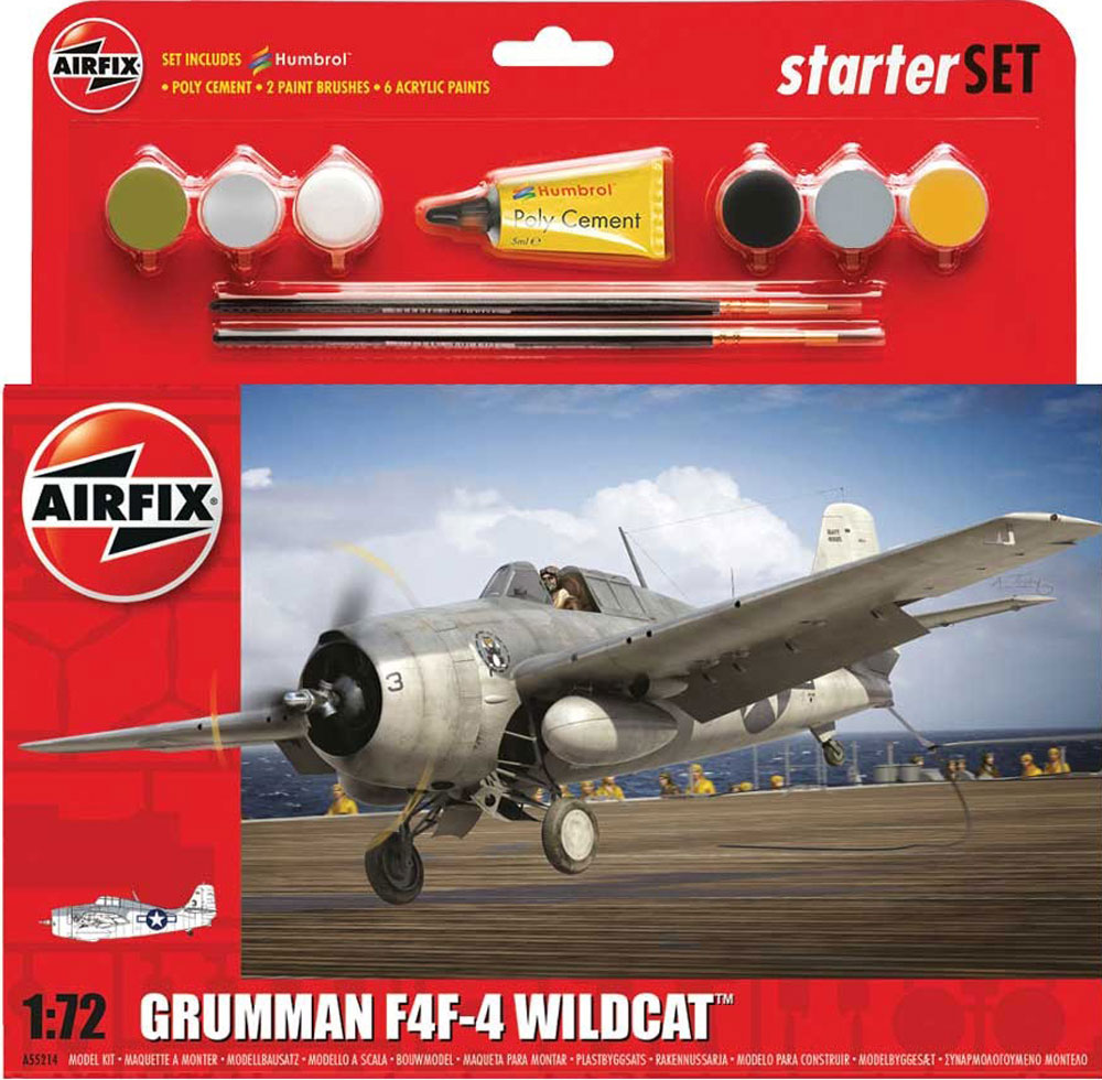 GRUMMAN WILDCAT F4F-4 AIRFIX 55214 Plastic Model Kit