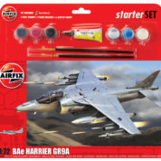 STARTER SET HARRIER GR9 AIRFIX 55300 Plastic Model Kit