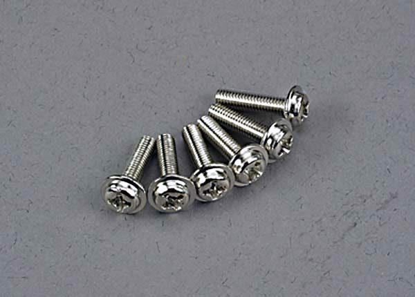 3186 (PART) TRAXXAS W/HEAD SCREW 3X12MM
