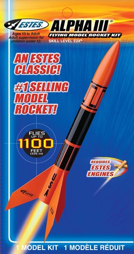 ESTES ROCKET STARTER KIT ALPHA III