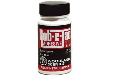 WOODLAND SCENICS  S195 HOB-E-TAC ADHESIVE 2OZ