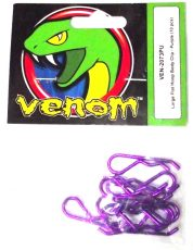 VENOM LARGE HOOP BODY CLIP PURPLE 10PCS VEN-2073PU