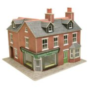 METCALFE PO263 TERRACED CORNER SHOP RED BRICK
