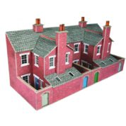 METCALFE PO276 LOW RELIEF TERRACE BACKS RED