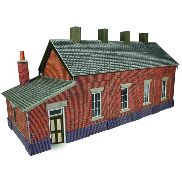 METCALFE PO331 RED BRICK TRACK ENGINE SHED
