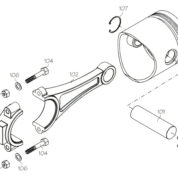 F5174 (YS ENGINE PART) EXHAUST PIPE YS53