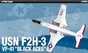 ACADEMY 1/72 USN F2H-3 ACES 12548