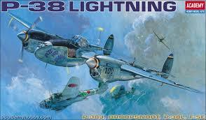 ACADEMY 1/48 P-38 LIGHTNING 12282