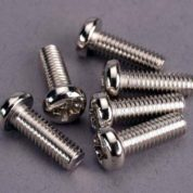 2568 (PART) TRAXXAS SCREWS 4X12MM ROUNDHEAD