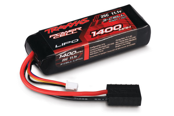 2823 (PART) TRAXXAS BATTERY  1400MAH 11.1V 3CELL 25C LIPO BATTERY SUIT 1:16
