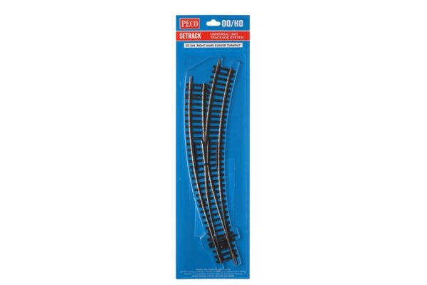 PECO ST244 R/H CURVED POINT HO