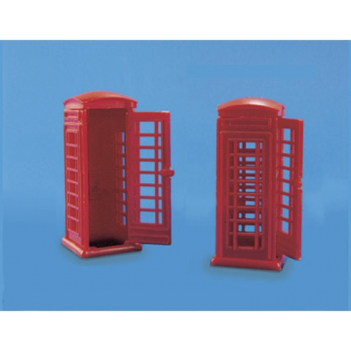 MODEL SCENE 5006 OO TELEPHONE KIOSKS HO