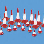 MODEL SCENE 5008 OO TRAFFIC CONES LARGE & SMALL HO