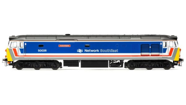 """Hornby R3471 Class 50 50026 """"Indomitable"""" in original Network SouthEast livery"""