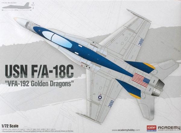 Academy 1/72 F/A-18C Hornet VFA-192 Golden Dragons Kit 12564