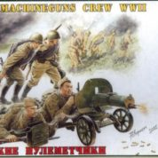 ZVEZDA 1/35 SOVIET MACHINEGUNS W/CREW WWII 3584
