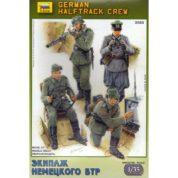 ZVEZDA 1/35 GERMAN HALFTRACK CREW 3585