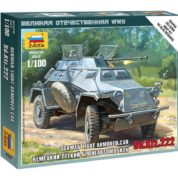 ZVEZDA 1/100 SD.KFZ.222 ARMORED CAR KIT 6157