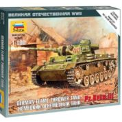 ZVEZDA 1/100 PANZER 111 FLAMETHROWER TANK KIT 6162