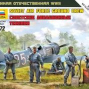 ZVEZDA 1/72 SOVIET AIRFORCE GROUNF CREW KIT 6187