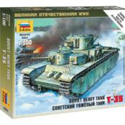 ZVEZDA 1/100 SOVIET TANK T-35 KIT 6203