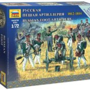 ZVEZDA 1/72 RUSSIAN FOOT ARTILLERY KIT 6809