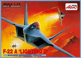 "Mistercraft 1/72 F-22A ""Lightning II"" Plastic Model Kit A-226"