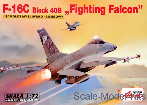 Mistercraft 1/72 F-16C Block 40 Fighting Falcon Plastic Model Kit A-295