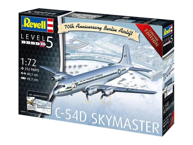 "REVELL C-54D BERLIN AIRLIFT ""701TH ANNIVERSARY"" 1:72 03910"