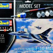 REVELL MODEL SET F-16 MLU (BELGIUM) 70TH ANNIVERSARY 1:72 63905