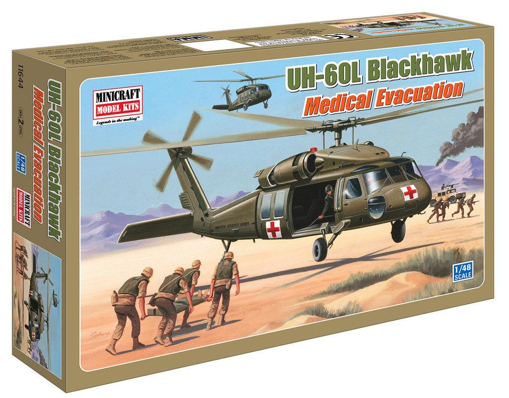 1/48 UH-60L BLACKHAWK MEDIVAC MINICRAFT Plastic Model Kit (11644)