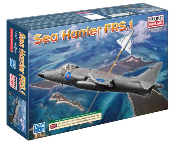 1/144 HAWKER HARRIER RAF MINICRAFT Plastic Model Kit (14647)