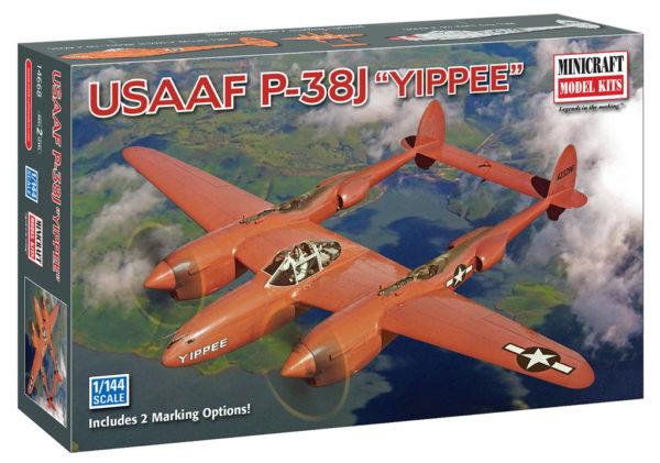 1/144 P-38J USAAF MINICRAFT Plastic Model Kit (14668)