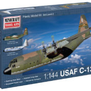 1/144 C-130B USAF MINICRAFT Plastic Model Kit (14672)
