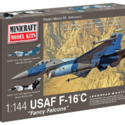 1/144 F-16 USAF FANCY FALCONS MINICRAFT Plastic Model Kit (14694)