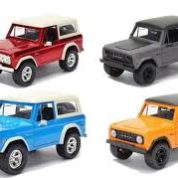 1:24 1973 RED FORD BRONCO HARDTOP JUST TRUCKS JA97824