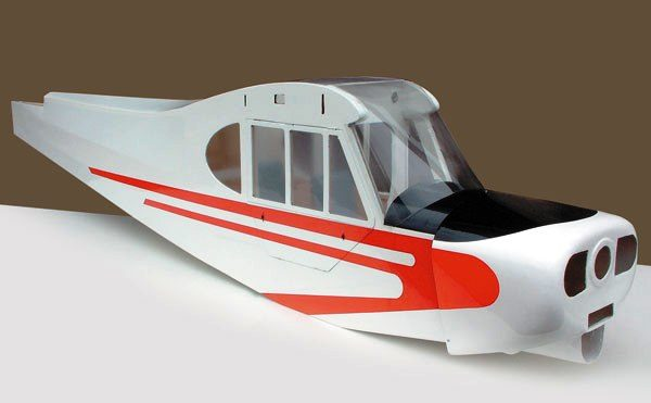 SUPER CUB 50CC 11 Foot Wing Span Red/White Model Tech