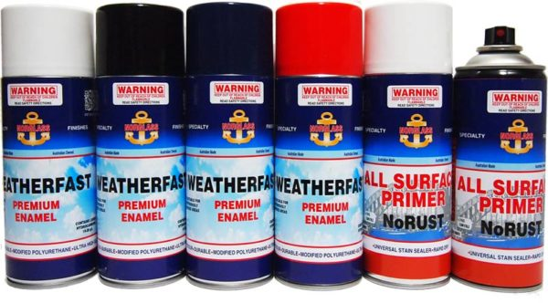 SPRAY CAN WEATHERFAST GLOSS ADMIRA BLUE 300gm